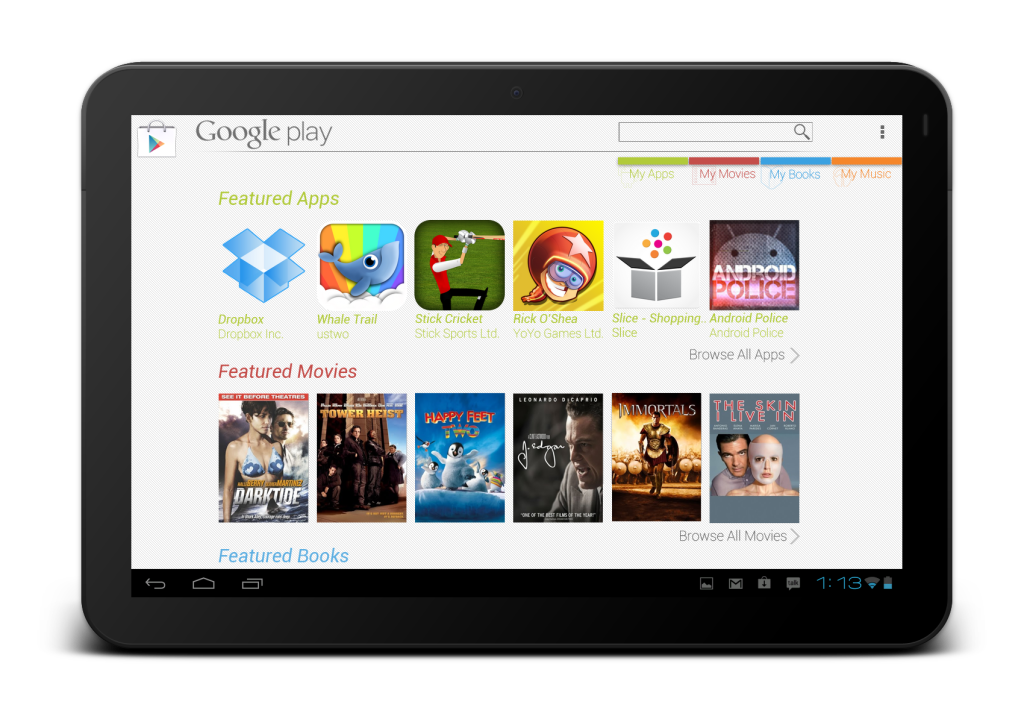 playstore tablet